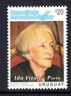 2016 Uruguay Vitale Poetry Complete Set Of 1 MNH - Uruguay