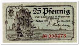 GERMANY,EMDEN,25 PFENNING,1920,AU - [11] Local Banknote Issues