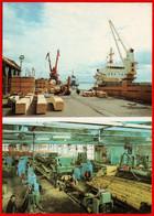 30451 1989 Arkhangelsk Arkhangelsk Sawmilling Woodworking Plant Port Crane Ship Shop Sawmill Lumber USSR Soviet Card - Zonder Classificatie