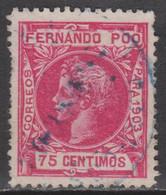 1903 FERNANDO POO ALFONSO XIII 75 Cént. USADO. VER - Fernando Poo