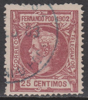 1902 FERNANDO POO ALFONSO XIII 25 Cts. USADO. VER - Fernando Poo