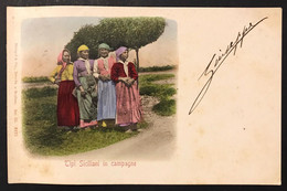Tipi Siciliani In Campagne VIAGGIATA 1901 COD.C.3349 - Siracusa