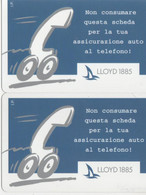 NUOVE- 564/65 -TELECOM ITALIA - SERIE LLOYD 2 SCHEDE - Public Practical Advertising