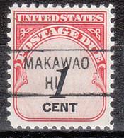 USA Precancel Vorausentwertung Preo, Locals Hawaii, Makawao 841 - Precancels