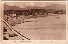 6ZE 535 CPA - SAINT JEAN DE LUZ - LA PLAGE ET LA RHUNE - Saint Jean De Luz