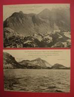 L'Andorre Mystérieuse Les Pyrénées Inconnues 2 Cpa Pics & Cols édit Dr Marcailhou D'Aymeric  Dos Scanné Sauf Postcard252 - Andorre
