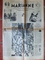 Journal Marianne N°307 (7 Septembre 1938) Racisme - L'homme Contre Partisan - Bled Marocain - Indiens D'autrefois - 1950 - Heute
