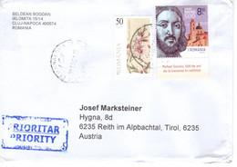 Auslands - Brief Von Cluc - Napocca Mit 9 Leva Mischfrankatur 2021 - Lettere