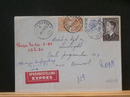 B5689 LETTRE EXPRES DENDERMONDE   1981 74F - Lettres & Documents