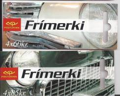 Carnets D'Islande 2004 Voitures Automobiles  N° C 990 Et 992 Oblitérés (cancelled) - Cuadernillos/libretas