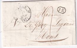 FRANCE 1838 LETTRE DE BOUCHAIN AVEC CORRESPONDANCE - 1801-1848: Precursors XIX