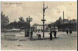 ANVERS Place De La Commune Ed. Albrechts, Cpa (3 Taches Haut Droit, Réfection De Chaussée Pavée) - Antwerpen