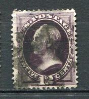 E-U 1870 Yv. N° 56 , SCOTT N° 162 Continental Bank   (o)  12c Henry Clay Violet Noir Cote 90 Euro BE R 2 Scans - Gebraucht
