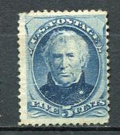 E-U 1875 Yv. N° 59a , SCOTT N° 185  American Bank   (*)  5c  Taylor  Blue Cote 425 Euro BE R  2 Scans - Unused Stamps