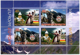 South Ossetia . EUROPA CEPT 2012. National Folk Costumes . S/S - 2012