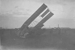 180721 PHOTO BRUCHON GRANDE SEMAINE AVIATION LYON AVION 1910  Aviateur Metrot Biplan Voisin Crash Accident Villeurbanne - Accidents