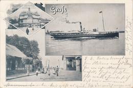 7449) GRUSS - Dampfer Phönix - Fährhaus HAMBURG ST. PAULI - Am Landungsplatz In HARBURG - 4.9.1903 !! - Harburg