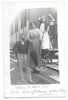 34 Palavas. Carte Photo Prise Sur Le Petit Train, Certainement En Gare De Palavas (11104) - Palavas Les Flots