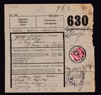DDZ 329 -  1 Formule De Colis Postal Militaire (Timbre Coupé En Deux) - NAMECHE 1939 Vers ST ANDRE Lez BRUGES - 1923-1941