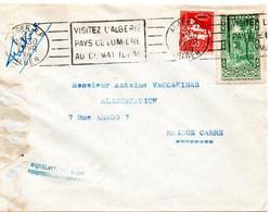 ALGERIE 1939 = ALGER RP =  FLAMME RBV  ' VISITEZ / PAYS De LUMIERE / CLIMAT IDEAL' Sur N° 107 - Storia Postale