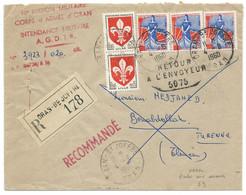 ENVELOPPE RECOMMANDEE / ORAN BD JOFFRE ALGERIE 1960 POUR  BENABDELLAH TURENNE / RETOUR A L'ENVOYEUR/ - Covers & Documents