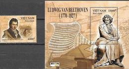 VIETNAM , 2020, MNH, MUSIC, BEETHOVEN, 1v+S/SHEET - Music