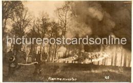 GERMAN FLAMMENWERFER OLD R/P POSTCARD FLAMMEN WERFER FLAME THROWER WW2 WORLD WAR 2 - Materiale