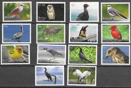 BELIZE, 2020, MNH, BIRDS, DEFINITIVES, OWLS, HAWKS, PELICANS, STORKS, HERONS, WARBLERS, 14v - Other