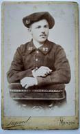 Photographie CDV  Portrait Chasseur Alpin Du 27 ème BCA - Menton - Photo De Sigaud - BE - War, Military