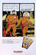 Publicité Papier ALLIBERT TINTIN ON A MARCHE SUR LA LUNE Novembre 1981 MTP1053238 - Pubblicitari