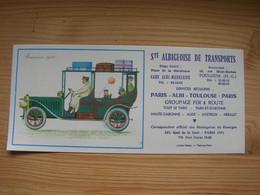 Buvard 22x10 Larrieu Bonnel Societe Albigeoise De Transport Albi Toulouse Etat Neuf Brasier 1910 Voiture - Transport