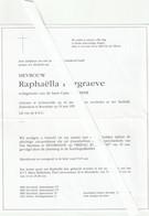 Lichtervelde, Roeselare, Raphaella Burgraeven Lybeer, Fam. Sinnaeve, Bonduel, , Dubbele Rouwbrief - Devotion Images