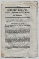 Bulletin Des Lois N°306 1834 Tarif Passage Pont De Lagnieu (Isère), Rouen, Saint-Perreux, Port Boulet/France-Venezuela - Decreti & Leggi
