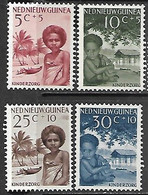 Netherlands New Guinea  1957  Sc#B11-4 Charity Set  MLH   2016 Scott Value $5 - Nouvelle Guinée Néerlandaise