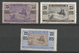 MARITANIE  N° 36 à 38  NEUF* TRACE DE CHARNIERE  / MH / - Unused Stamps