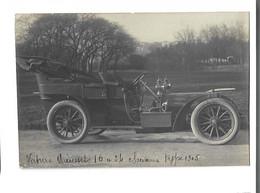 AUTOMOBILE - CP PHOTO - Voiture MIEUSSET  10 A 24 Chevaux Type 1905 Signature Mieusset  Gros Plan Bon état - Turismo