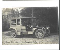 AUTOMOBILE - CP PHOTO - Voiture MIEUSSET  40 Chevaux Type 1902 Gros Plan Bon état - Turismo