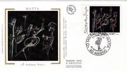 France FDC Premier Jour Soie Tableau Peinture Painting Art 1991 2731 Matta - 1990-1999