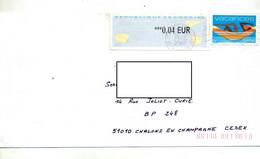 Lettre Flamme Muette Saint Paul Sur Vacances Vignette 0.04 € - Oblitérations Mécaniques (flammes)