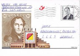 41126. Entero Postal BRUGGE (Belgien) 1999. Bruphila 99. Remitida SAINT KRAUS. Label, Viñeta - Postcards [1951-..]