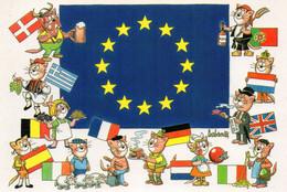 1993 -  JOURNEE DE LA CARTE POSTALE - L'EUROPE - Dédicacée Par BARBEROUSSE - Tirage Limité - Collector Fairs & Bourses