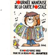 1992 - JOURNEE DE LA CARTE POSTALE - L'ACCORDEONISTE - Dédicacée Par BARBEROUSSE - Tirage Limité - Collector Fairs & Bourses