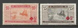 MARITANIE  N° 34 Et 35 NEUF*  CHARNIERE  / MH / - Unused Stamps