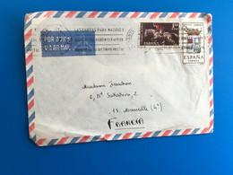 Sellos Sobre Carta España 1931-Actualidad: II. República - .... Juan Carlos I - 1951-60 Cartas Lettres-☛Marseille - 1951-60 Cartas
