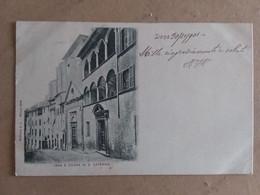 SIENA  CASA E CHIESA DI SANTA CATERINA   1904 - Siena
