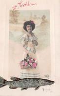 1er AVRIL Femme Poisson Fleurs Iris - ( ͡♥͜ʖ ͡♥) ♥ - 1 De April (pescado De Abril)