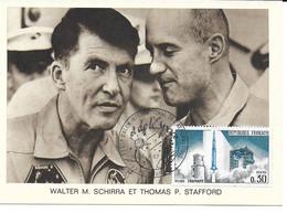 ESPACE FRANCE 1967 LE BOURGET SALON AERONAUTIQUE CARTE WALTER M. SCHIRRA  THOMAS P. STAFFORD - Europe