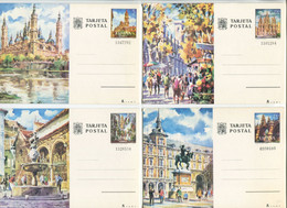 5 Stamped Stationery Postcards (Cities And Communications) - Unclassified