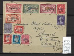 Algérie - Lettre Alger Pour Sempach En Suisse - 1ere Série D'Algérie - 1925 - Storia Postale