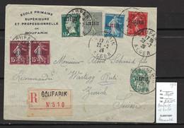 Algérie - Lettre Boufarik Pour Zurich - Suisse  - 1ere Série D'Algérie - 1926 - Storia Postale